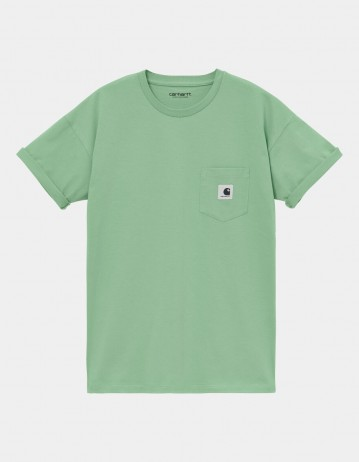 Carhartt Wip W S/S Pocket T-Shirt Mineral Green. - Product Photo 1