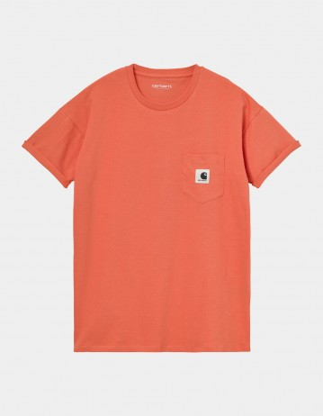 Carhartt Wip W S/S Pocket T-Shirt Shrimp. - Product Photo 1