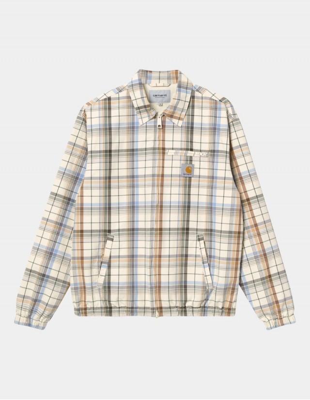 Carhartt Wip Vilay Jacket Vilay Check, Natural. - Man Jacket  - Cover Photo 1