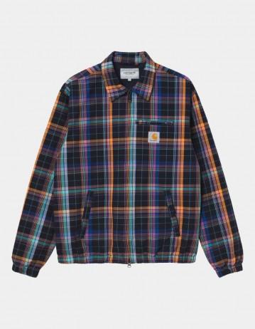 Carhartt Wip Vilay Jacket Vilay Check, Dark Navy. - Product Photo 1