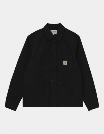 Carhartt Wip Wesley Jacket Black Garment Dyed. - Product Photo 1