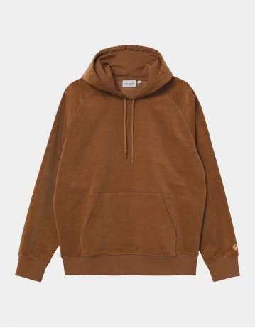 Carhartt Wip Hooded Cord Sweatshirt Rum / Gold. - Product Photo 1