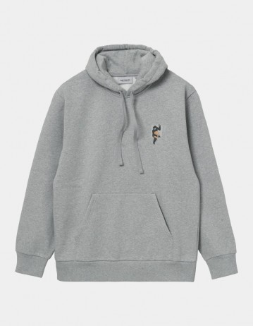Carhartt Wip Hooded Teef Sweatshirt Grey Heather. - Product Photo 1