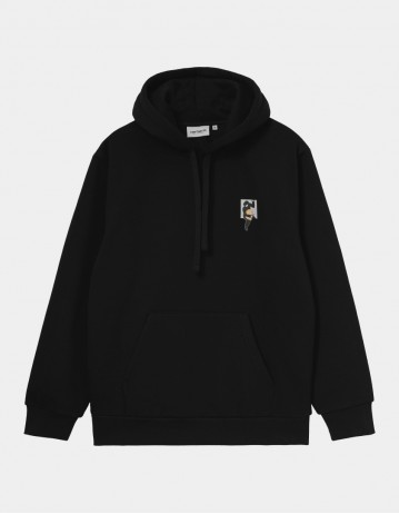 Carhartt Wip Hooded Teef Sweatshirt Black. - Product Photo 1