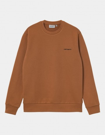 Carhartt Wip Script Embroidery Sweatshirt Rum / Black. - Product Photo 1