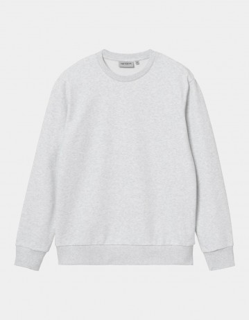 Carhartt Wip Script Embroidery Sweatshirt Ash Heather / White. - Product Photo 1