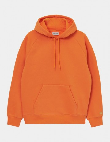 Carhartt Wip Hooded Chase Sweatshirt Hokkaido / Gold. - Product Photo 1