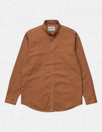 Carhartt Wip L/S Bolton Shirt Rum. - Product Photo 1