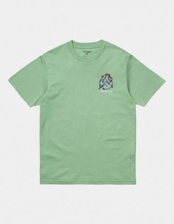 Carhartt Wip S/S Ill World T-Shirt Mineral Green. - Product Photo 1