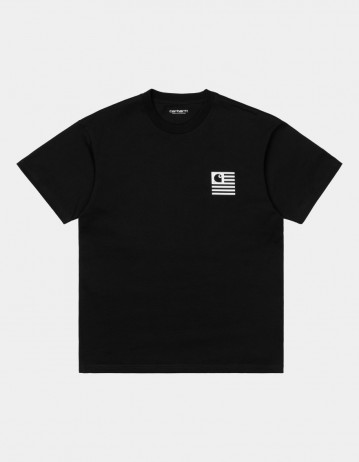 Carhartt Wip S/S Wavy State T-Shirt Black / White. - Product Photo 1