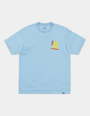 Carhartt Wip S/S Burning Palm Beach T-Shirt Capri. - Product Photo 1