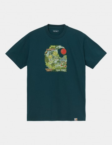 Carhartt Wip S/S Treasure C T-Shirt Deep Lagoon. - Product Photo 1