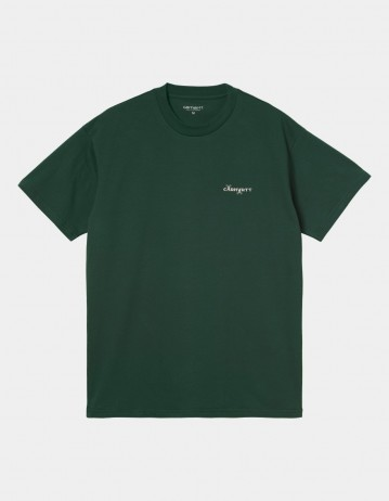 Carhartt Wip S/S Calibrate T-Shirt Treehouse. - Product Photo 1