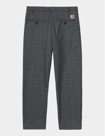 Carhartt Wip Menson Pant Stowe Check, Wave Rigid. - Product Photo 1