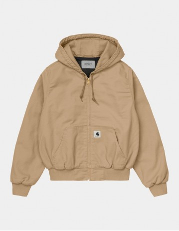 Carhartt Wip W Active Jacket Dusty H Brown Rinsed. - Product Photo 1