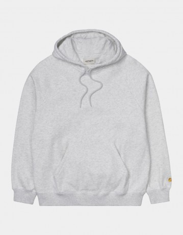 Carhartt Wip W Hooded Chase Sweatshirt Ash Heather / Gold. - Product Photo 1