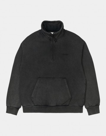 Carhartt Wip W Mosby Script Highneck Sweatshirt Black. - Product Photo 1