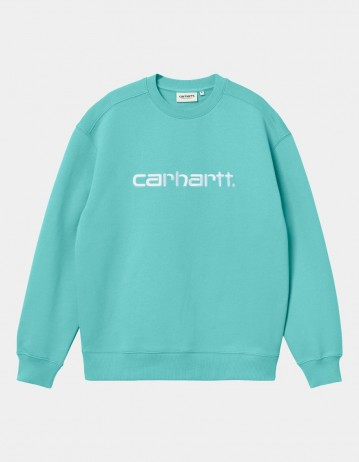 Carhartt Wip W Carhartt Sweatshirt Bondi / White. - Product Photo 1
