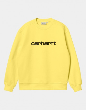 Carhartt Wip W Carhartt Sweatshirt Limoncello / Black. - Product Photo 1