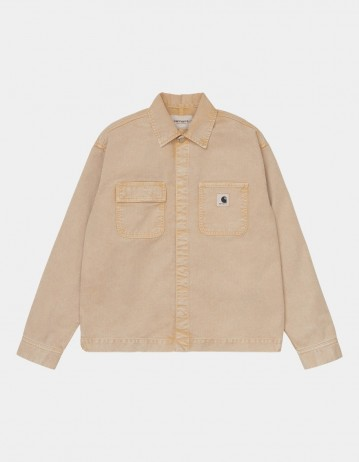 Carhartt Wip W Sonora Shirt Jac Dusty H Brown Worn Washed. - Product Photo 1