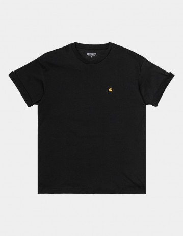Carhartt Wip W S/S Chase T-Shirt Black / Gold. 2 - Product Photo 1