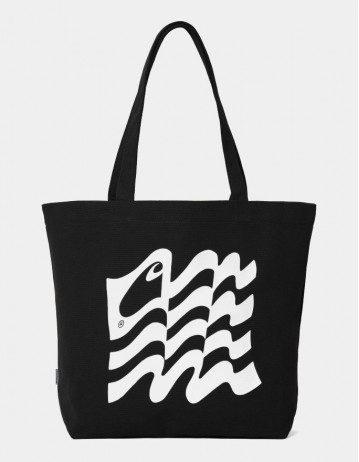 Carhartt Wip Wavy State Tote Black / White. - Product Photo 1