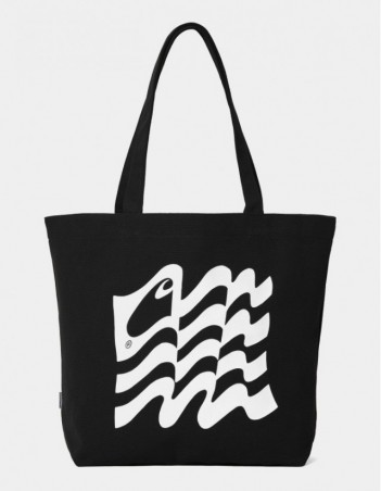 Carhartt WIP Wavy State Tote Black / White. - Bag - Miniature Photo 1
