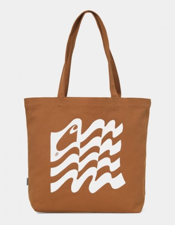 Carhartt Wip Wavy State Tote Rum / Wax. - Product Photo 1