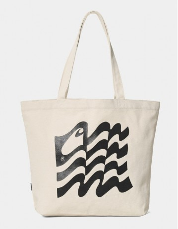 Carhartt Wip Wavy State Tote Ecru / Black. - Product Photo 1