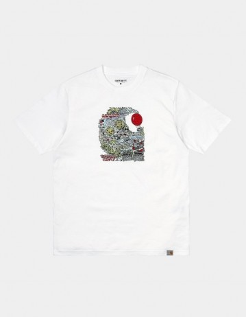 Carhartt Wip S/S Treasure C T-Shirt White. - Product Photo 1