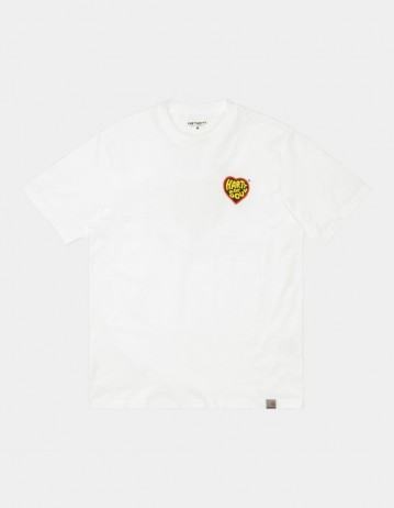 Carhartt Wip S/S Beach C T-Shirt White. - Product Photo 1