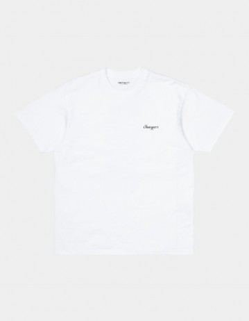 Carhartt Wip S/S Calibrate T-Shirt White. - Product Photo 1