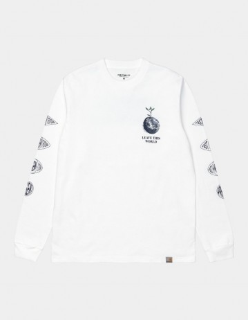 Carhartt Wip L/S Landscape T-Shirt White. - Product Photo 1