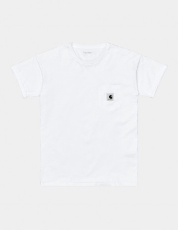 Carhartt Wip W S/S Pocket T-Shirt White. - Product Photo 1
