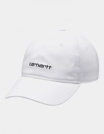 Carhartt Wip Canvas Script Cap White/Black. - Product Photo 1