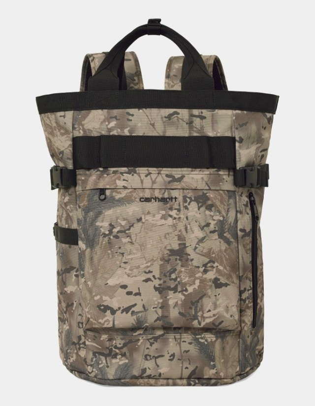 Carhartt Wip Payton Carrier Backpack Camo Combi, Desert / Black. - Backpack  - Cover Photo 1