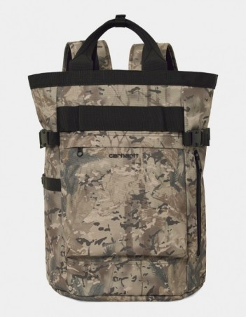 Carhartt WIP Payton Carrier Backpack Camo Combi, Desert / Black. - Backpack - Miniature Photo 1