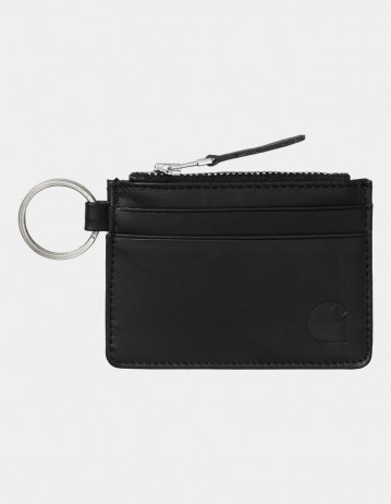 Carhartt Wip Leather Wallet With M Ring Black. - Product Photo 1