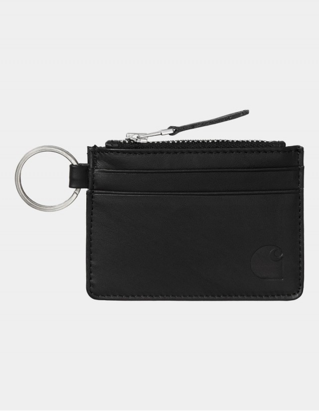 Carhartt Wip Leather Wallet With M Ring Black. - Wallet  - Cover Photo 1