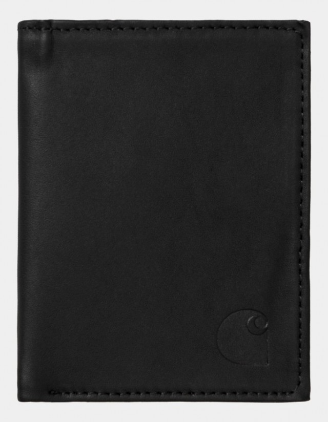 Carhartt Wip Leather Fold Wallet Black. - Wallet  - Cover Photo 1