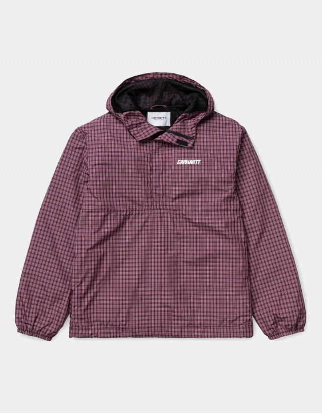 Carhartt Wip W Alistair Pullover Alistair Check, Black / Etna Red. - Woman Jacket  - Cover Photo 1