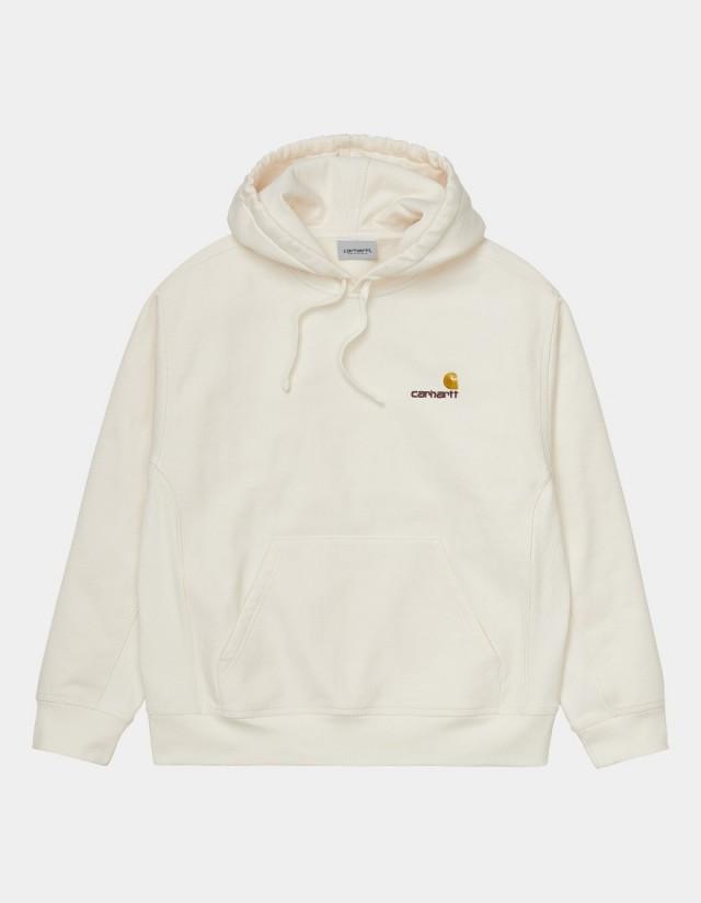 Carhartt Wip Hooded American Script Sweatshirt Wax. - Men's Sweatshirt  - Cover Photo 1