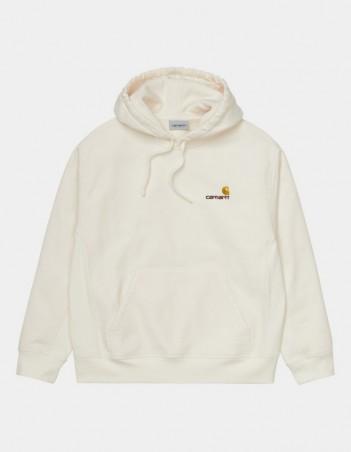 Carhartt WIP Hooded American Script Sweatshirt Wax. - Men's Sweatshirt - Miniature Photo 1