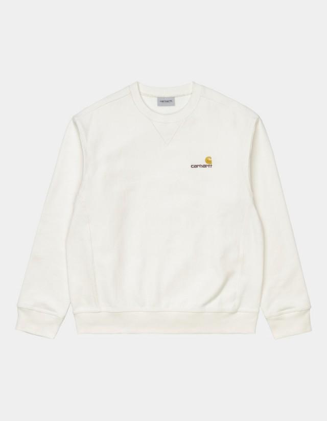 Carhartt Wip American Script Sweatshirt Wax. - Men's Sweatshirt  - Cover Photo 1