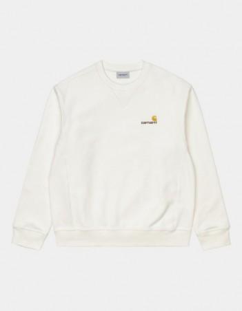 Carhartt WIP American Script Sweatshirt Wax. - Men's Sweatshirt - Miniature Photo 1