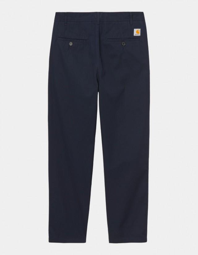 Carhartt Wip Menson Pant Dark Navy Rinsed. - Men's Pants  - Cover Photo 1