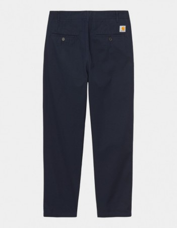 Carhartt WIP Menson Pant Dark Navy rinsed. - Men's Pants - Miniature Photo 1