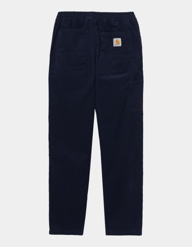 Carhartt Wip Flint Pant Dark Navy Rinsed. - Men's Pants  - Cover Photo 1