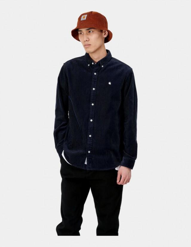 Carhartt Wip L/S Madison Cord Shirt Dark Navy / Wax. - Herrenhemd  - Cover Photo 4