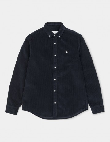 Carhartt Wip L/S Madison Cord Shirt Dark Navy / Wax. - Product Photo 2